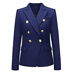IceyZoey Damen Formal Büro Blazer Mäntel Double Breasted Jackens Reizvolle Business Suit Kurz