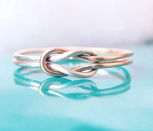 Double Love Knot Ring Gold Sterling Silver