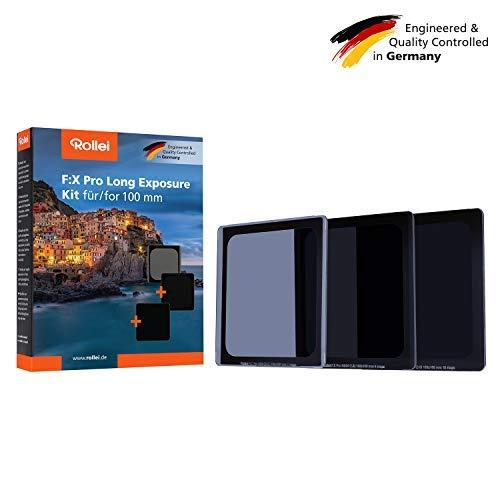 Rollei F:X Pro ND Filter Set I ND8, ND64 & ND1000 Rechteckfilter aus Gorilla Glas I Graufilter für Langzeitbelichtung geeignet für Filterhalter Systeme