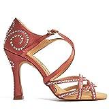Manuel Reina - Zapatos de Baile Latino Mujer Salsa Anita Competition Copper - Bailar Bachata, Salsa, Kizomba (40 EU, Tacón: 7.5)