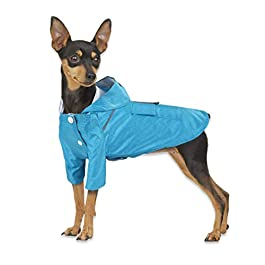 KUANDARMX Pet raincoat dog raincoat breathable double dog clothes waterproof hooded windproof suitable for large, medium and small pets