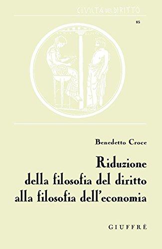 Riduzione della filosofia del diritto alla filosofia dell'economia