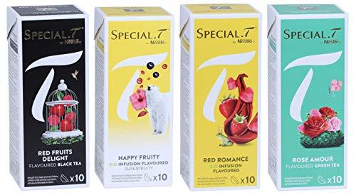 Special.T - Mélange Rouge - Sélection de thés aux fruits rouges (4 types de 10 capsules)