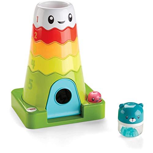 Fisher-Price La Montagne Magique pyramide colorée, jouet à empiler pour développer la motricité de bébé, sons et musique, 6 mois et plus, FWW08