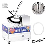 WeChef 250W Electric Snow Cone Machine Maker Stainless Steel Ice Shaver Crusher 2500RPM 440Lbs/hr Home