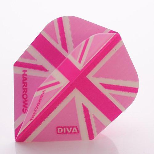 Harrows Diva Dart Flights Union Jack, 3 Stück