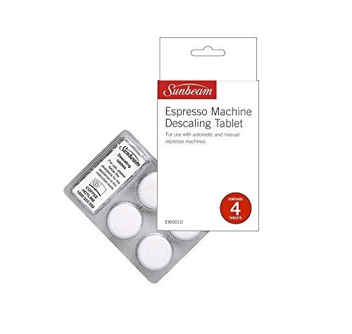 Sunbeam Espresso Machine Descaling Tablets   Coffee Machine Descaler   For Automatic & Manual Espresso Machines   4 Tablets   EM0010