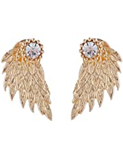 Women's Ear Studs Chic Novelty Exaggerated Wing Design Popular Earrings