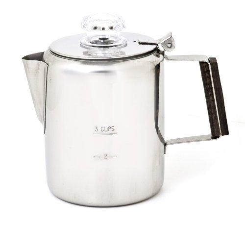 Chinook 41110 Coffee Percolator, 3 Cup, Stainless Steel