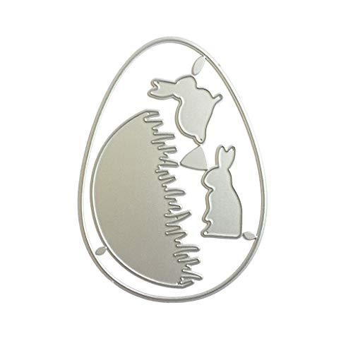 Troqueles de corte, diseño de conejo de Pascua de metal, troqueles, plantilla de scrapbooking