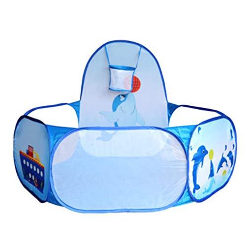 Ardorman Baby Bällebad Mit Basketballkorb, Faltbar Pop Up Bällebad Zelt, Basketballkorb Bällebad - Tragbar Kinder Bällchenbad Ocean Ball Zelt