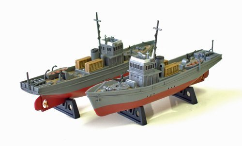 No. 1 type secret military boat latent drive 1/350 Japanese Navy (two vessels case) (japan import)