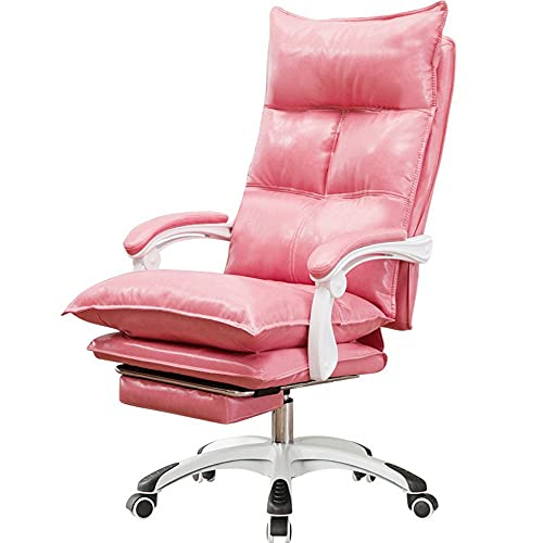 JINGXU Home Office Chair Computer Chair Lift Silent Roller Comfortable Sedentary Game Broadcast Back Chair,Pink