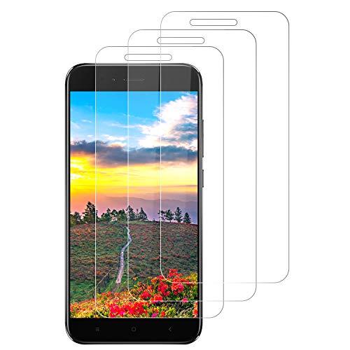 SNUNGPHIR Protector Pantalla para Xiaomi Mi A1/5X, 3 PackCristal Templado para Xiaomi Mi A1/5X, Sin Burbujas, Dureza 9H, Funda Compatible, Kit Fácil de Instalar, Vidrio Templado Ultra Resistente