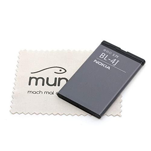 Nokia - Batteria originale BL-4J per Nokia 600 C6 Lumia 620, con panno per la pulizia dello schermo