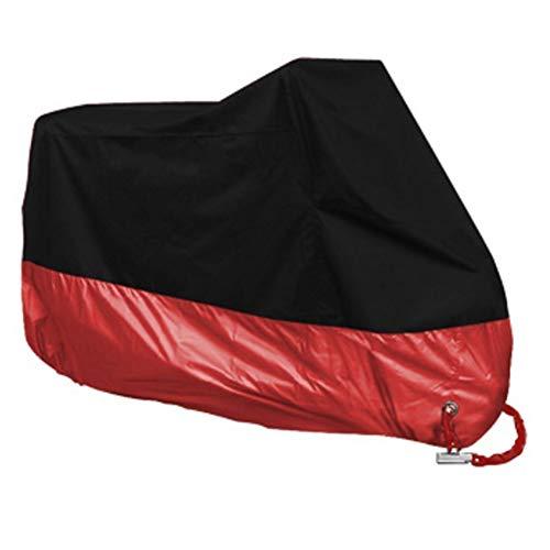 Nicoone Cubierta de La Motocicleta Impermeable Cubierta Completa Interior Exterior Protección contra La Lluvia Protección contra El Polvo de La Motocicleta Escudo (Rojo)