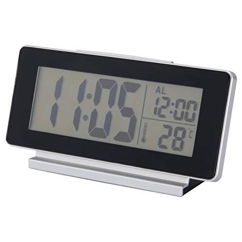 My- Stylo Collection - Reloj/termómetro/Alarma, Color Negro, tamaño del Producto: Ancho: 16,5 cm, Profundidad: 4 cm, Altura: 8 cm