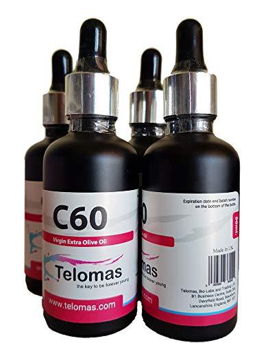 4 x 50 ml C60 Fullerene Olive Oil, Lipo Fullerenes, C60 Oliven Öl, 67 mg/100 ml, Bucky Balls 99.95{9088033a582dc5e2f6357947a1ef400361049dd71911bc5e11d19bfe3b2ff5c5} …