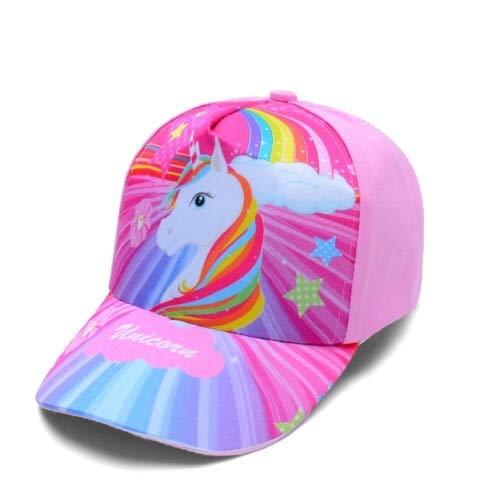 SUNNYBQM Sombrero para El Sol Bebé Niña Gorra Accesorios para 3-8 Años Niñas Unicornio Gorra De Béisbol Sol De Verano Camión Gorra para Niños Niños