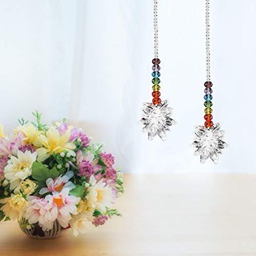 Jimdary Exquisitos Colgantes de Cristal Multicolor, Piezas de araña de Cristal sin Plomo K9, Hermosa Bola de Cristal para la Oficina en casa, espectáculo de Bodas, Ventanas de jardín
