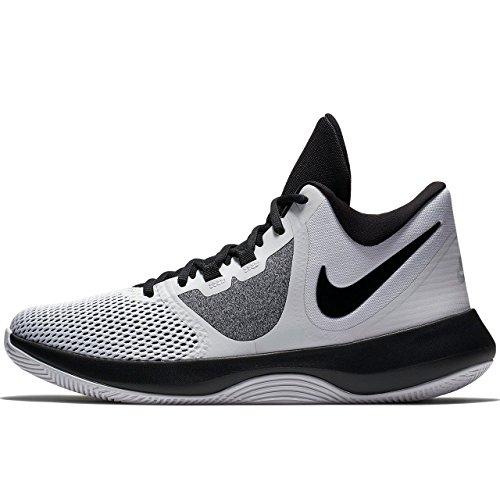 Nike Mens AIR Precision II Basketball Shoes (11.5 M US, White/Black)
