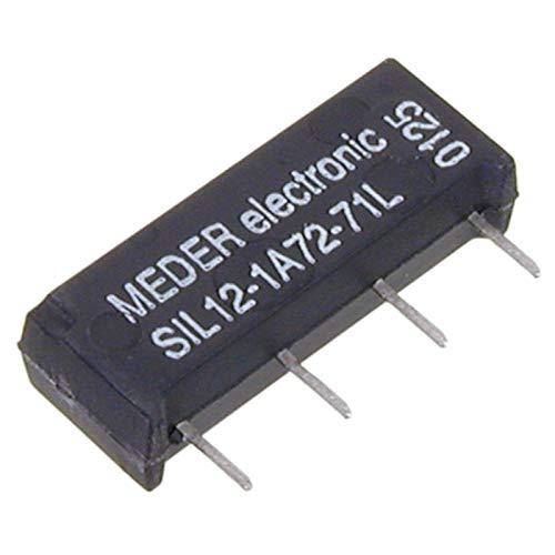 SIA12-1K SIL-Reed-Relais 12V= 1xEIN 1000 Ohm ohne Diode