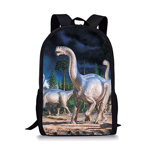 YUNSW Mochila Escolar para Niños con Patrón De Dinosaurio 3D, Adecuada para Uso Escolar, Mochila Escolar Primaria para Niños Impermeable Y Resistente Al Desgaste, Mochila para Jóvenes
