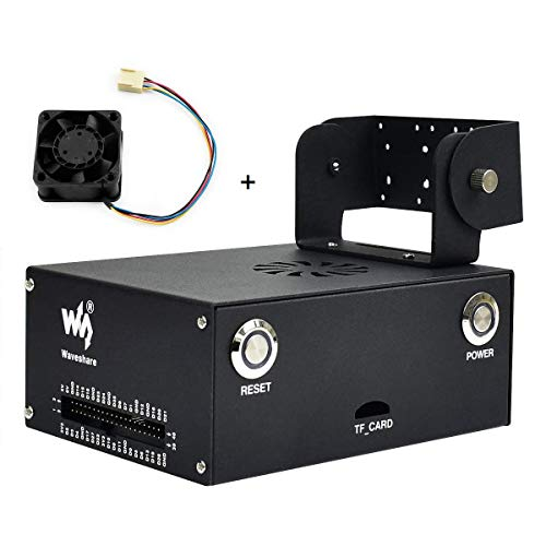 Metal Hülle (Type C) with 5V PWM Fan for Jetson Nano Developer Kit Original B01 Version, with Camera Holder Compatible with Waveshare IMX219 Camera, IMX219-83 Stereo Camera, for Jetson Nano