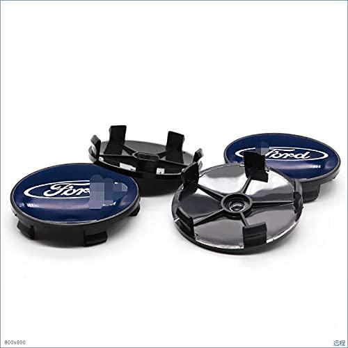 Tapa del Centro de la Rueda para 4 unids 68mm Coche Logo Centre Centro de ruedas Cubierta Cubierta de la insignia Pegatinas de la rueda Compatible con Ford- Logo Coche Personalidad Reventa Estilo ABS