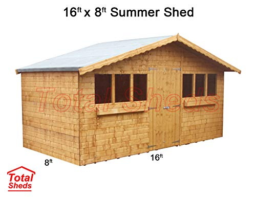 Total Sheds 16ft (4.8m) x 8ft (2.4m) Garden Shed Summer Shed Timber Shed