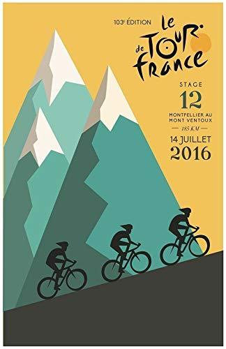 Inga Tour de France 2016 Plaque murale en métal 20 x 30 cm