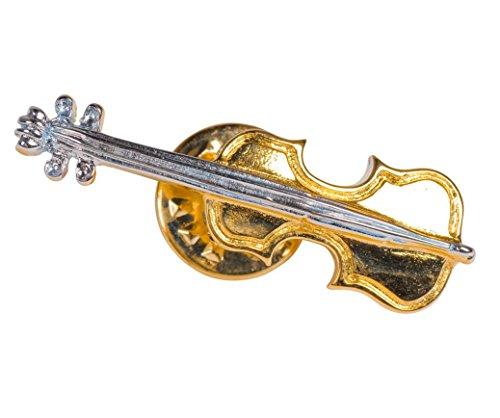 Unbekannt Anstecker große Geige - Schönes Geschenk für Musiker mit Geschenkverpackung
