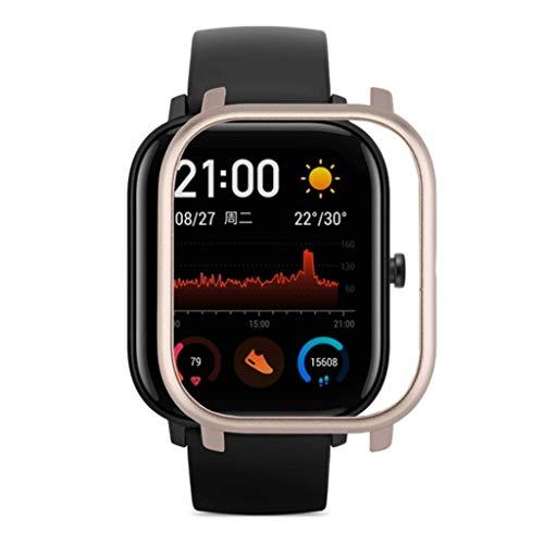 Protector Compatible con xiaomi huami Amazfit GTS, riou Suave de PC Ligero Smartwatch Protector Funda de Protección para Amazfit GTS Película Protectora Fundas de Carcasa