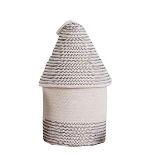 Almacenaje de la cesta de almacenamiento Tela de tela de algodón con...