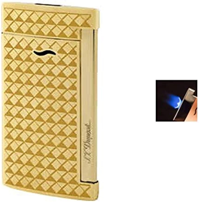 Lifestyle-Ambiente S.T. Dupont Feuerzeug Slim 7 Gold Flat Flame Fire Head Design inkl Tastingbogen