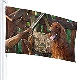 N/A USA Wächter Fahne Banner Heimflagge Jagd Pistole Hund Hängeplatz vertikal für Festivals, Terrasse, Party, Dekoration, 91 x 152 cm
