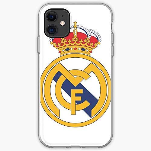 Jinfugongmao Compatible con iPhone 6 6s 7 Plus 8 Plus X XS XR 11 Pro MAX SE 12 Pro MAX Funda Spain Madrid Football Cr7 Soccer Sport Modric Club Bale Real Benzema Liga Cajas del Teléfono Cover