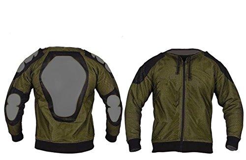 Damen Motorradjacke mit Kapuze – Komplett gefüttert – DuPont Kevlar Aramidfasern – CE-Protektoren – Schwarz – 46 (Herstellergröße:18) - 3