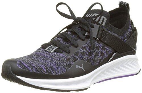 Puma Ignite Evoknit Lo Wn's, Zapatillas de Running para Mujer, Negro (Puma Black-Electric Purple-Quiet Shade 01), 39 EU