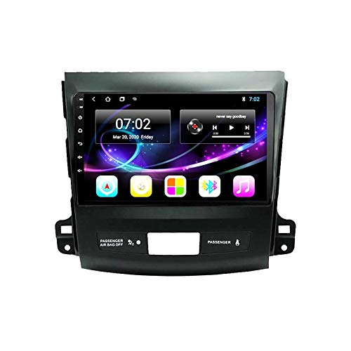 MGYQ Android 10.0 Car Stereo MP5 Player Head Unit 9 Inch Touchscreen with Rear Camera, Support GPS/DAB+/SWC/Bluetooth/Mirror Link/Wifi/4G, for Mitsubishi Outlander Xl 2005-2011,Quad core,WIFI 1+32