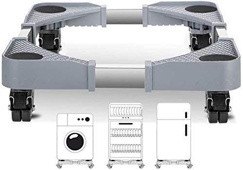 Rodamientos pivotantes para mueble Ajustable Muebles grocery cart Lavadora Prensa Nevera base móvil móvil del carro de rodillos con 4 Rodamientos de bloqueo Tamaño Nombre: electrodomésticos y pequeños