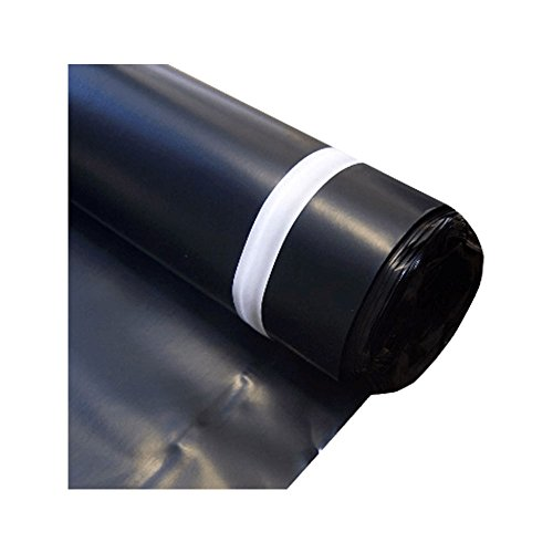 MP Global Products MB006300100 Block Roll of 6 mil Moisture Barrier Polyethylene Underlay Film, 100 sq. ft, Black