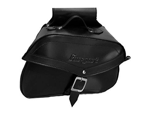 Alforjas Moto Custom Cuero con 18 litros de Capacidad. Color Negro. Universales....