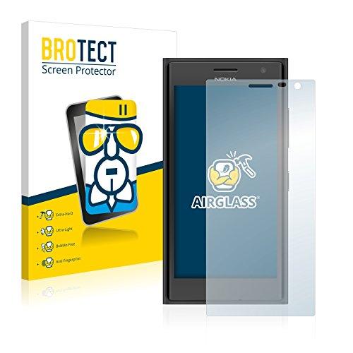 BROTECT Panzerglas Schutzfolie kompatibel mit Nokia Lumia 730 Dual SIM - AirGlass, extrem Kratzfest, Anti-Fingerprint, Ultra-transparent