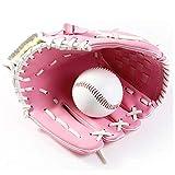 SOWOFA - Guantes de béisbol, jarra de béisbol, gruesos, para niñas, adolescentes, modelo S, M, L, talla grande, talla única, 11.5', Rosado