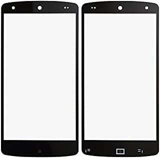 BisLinks New Black Front Outer Screen Glass Lens Replacement for LG Google Nexus 5 D820
