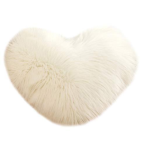STRIR Cojín de felpa, con diseño 3D,Cojín en forma de corazón, decoración para el hogar (A)
