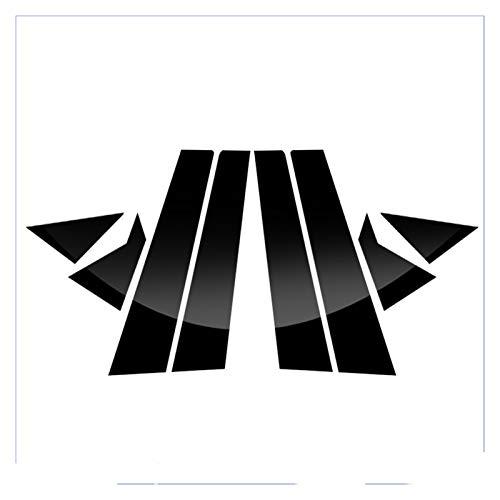 DAFALI Greatly Store 8PCS Car Styling FIT DE Hyundai Elantra Avante MD/UD 2011-2015 Etiqueta de Ajuste de la Ventana del Coche Pegatinas de Columna Media PVC Auto Accesorios (Color : Black)