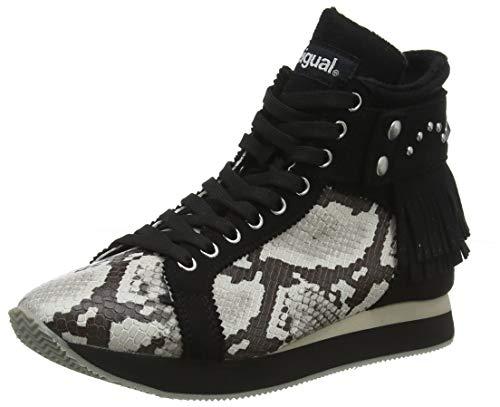 Desigual Shoes_miwok B&w, Zapatillas Altas para Mujer, Negro (Negro 2000), 36 EU