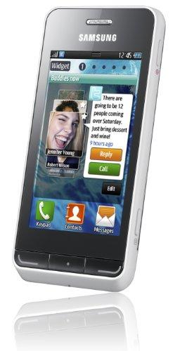 Samsung Wave 723 S7230 Smartphone (8,1 cm (3,2 Zoll) Bildschirm, Touchscreen, 5 Megapixel Kamera) cream-white